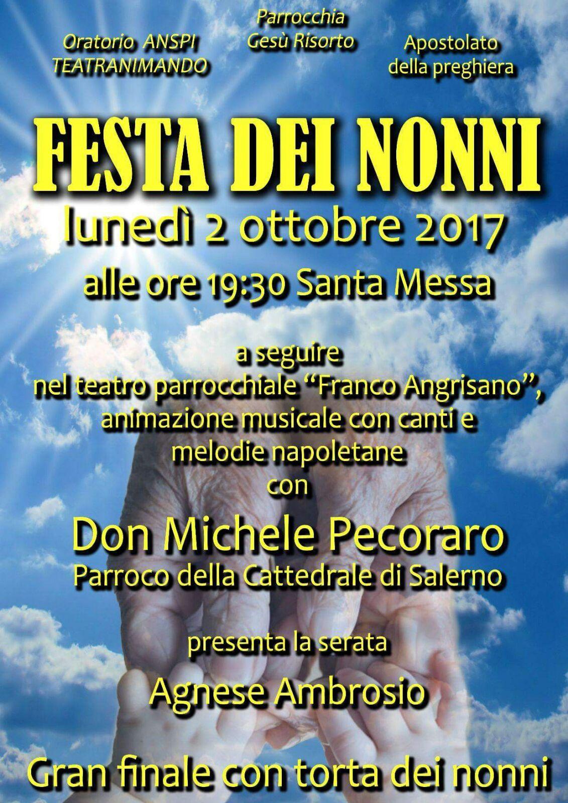 Calendario Festa Dei Nonni.2 Ottobre Festa Dei Nonni Parrocchia Di Gesu Risorto